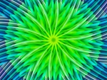 ♥ Abstract Green Flower ♥