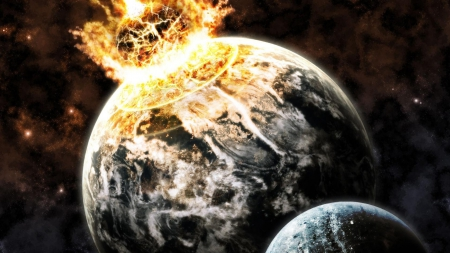 Impact Earth - impact, asteroid impact, Impact Earth, earth shattered, earth destroyed
