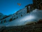 spectacular snowboarding flight