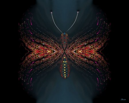 Psychodelic Butterfly - psychodelic, weird, butterfly, background, wallpaper, desktop, abstract, other