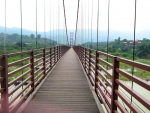 Long suspension bridge