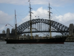 Sailing Ship with Sydney Harbour