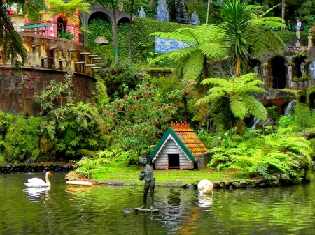 Monte palace tropical garden - Lakes & Nature Background Wallpapers ...