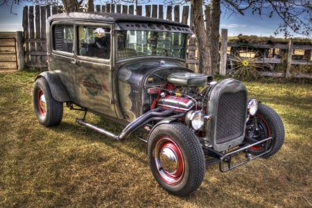 Hot Oldie - oldtimer, tuned, motor, Hot Rod, wheels