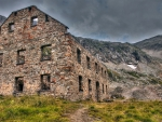abandoned stone house in the mountains hdr