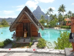 Idyllic Wedding Chapel on Blue Lagoon at Paradise Tropical Island Bora Bora French Polynesia