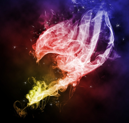 Fairy tail Logo - fairy tail, logo, anime, colours, smoke