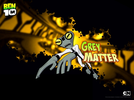 grey matter - ben 10, small, intelligent, nice alien
