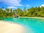 Incredible Aqua Blue Clear Lagoon Bora Bora Paradise Island Polynesia Tahiti