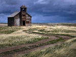 abandoned church on the prairie