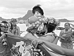 Island Beach Wedding on Paradise Desert Island Bora Bora Polynesia