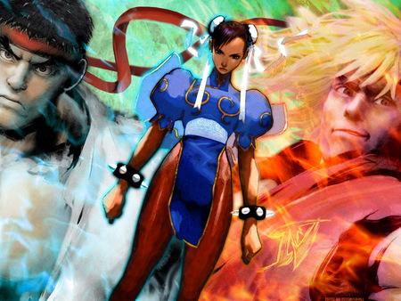 Ryu Chun Li Ken Street Fighter Video Games Background