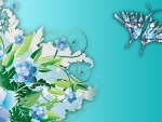 Blue Flower Butterfly