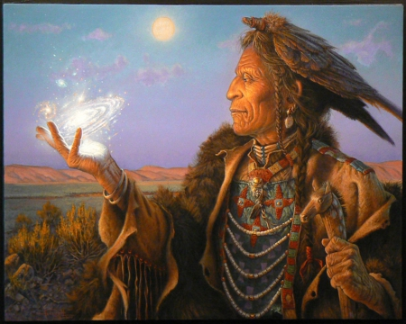 NATIVE AMERICAN MEDICINE MAN - Other & People Background