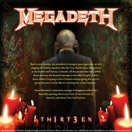 Megadeth 13 And Dave Mustaine Quote Music Entertainment
