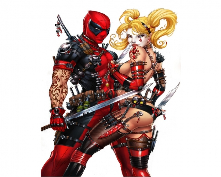 Deadpool And Harley Quinn Other Entertainment Background