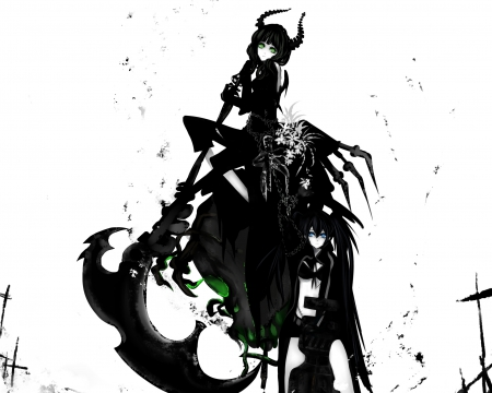 BRS - black, girls, white, anime