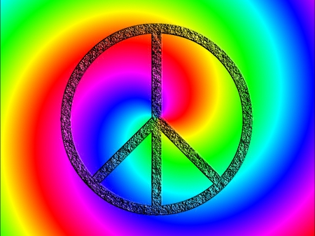 peace signs - rainbow, signs, peace, wallpaper