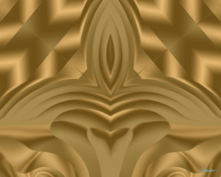 The Golden Chair - background, gold, fantasy, brown, wallpaper, throne, desktop, abstract, other, bright