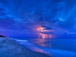 Lightning Storm Over Water For Cherie