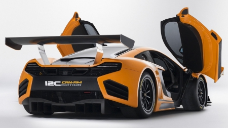 Mc Laren 12C - competition, cars, hd, mclaren, orange, power, carbon