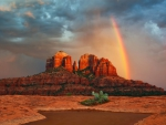 *** Rainbow in the desert ***