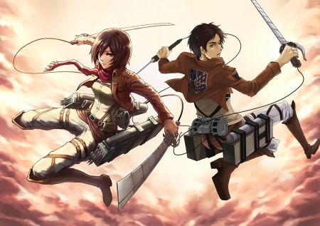 Eren Mikasa Other Anime Background Wallpapers On Desktop Nexus Image 1506303