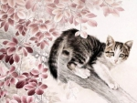 Chinese Cat Painting II