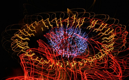 Laser Fireworks 5 - photo, celebration, abstract, photography, Laser, independence day, fireworks, wide screen, July 4th