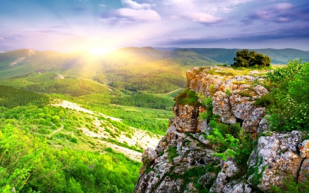 Mountain Sunrise Mountains Nature Background Wallpapers On
