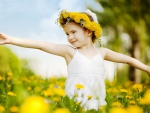 DANCING IN A FIELD OF YELLOW FLOWERS