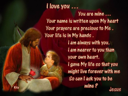 Jesus Christ - believe, love, heart, Jesus