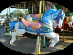 Blue-maned Carousel Horse F2