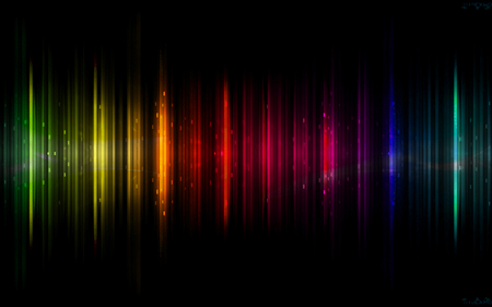 Aurora Borealis - colorful, rainbow, colors, auroraborealis, dark, abstract, black