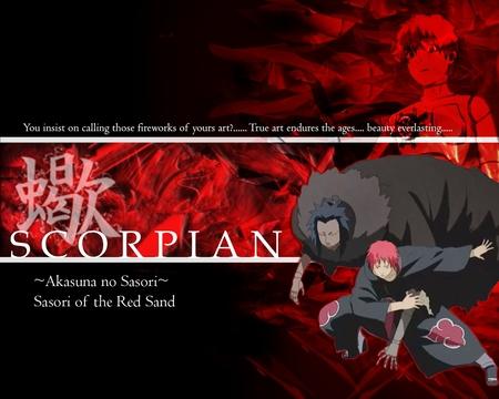 Sasori Of The Red Sand Naruto Anime Background Wallpapers On Desktop Nexus Image 151281