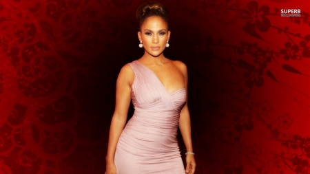 jennifer lopez - cute, dress, earing, pink