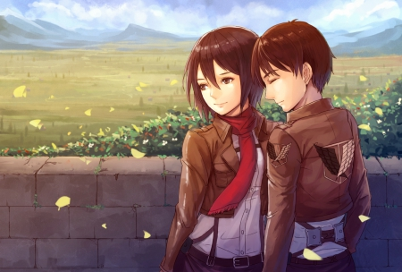 Eren Mikasa Other Anime Background Wallpapers On Desktop Nexus Image 1510925