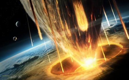Asteroid Strike - comet impact, earth collision, asteroid, doomsday strike, Asteroid Strike, global killer, armageddon