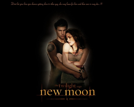 Twilight New moon - broken heart, twilight new moon, twilight, broken girl, new moon, love, broken boy, sad love, broken love, couple, hurting, hurt, jacob, touching, kristen stewart, touching line, sad, kristen