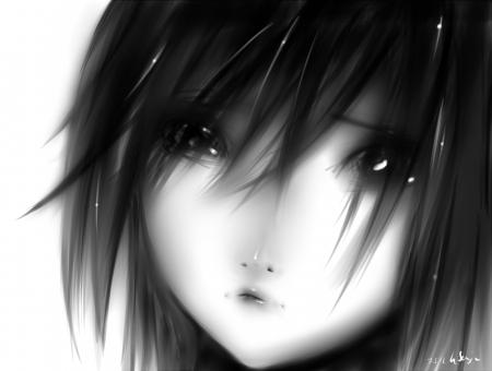 foto de Anime Girl ♥~ Black N' White ♥ Sad Anime/ Anything Wallpapers and Images Desktop Nexus Groups