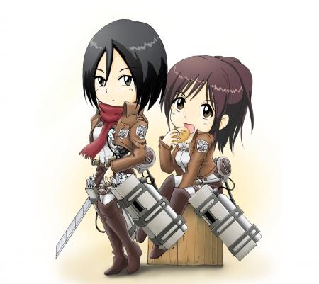 Mikasa N Sasha Other Anime Background Wallpapers On Desktop Nexus Image 1515217