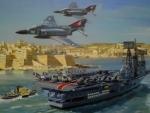 HMS Ark Royal in Valetta 1972