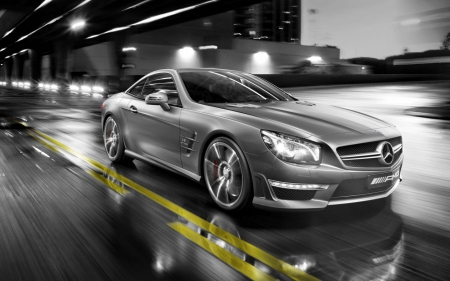MERCEDES SLK55 AMG - autos, photos, black and white, cars, cool, hot, mercedes, sports, luxury