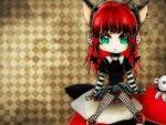 Cute Emo Scene Punk Girl Cat