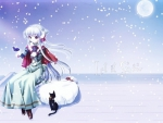 Let it snow - anime girl