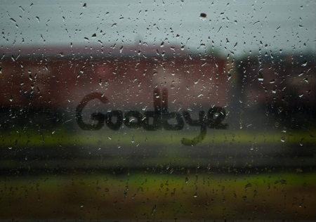 Goodbye - photo, goodbye, drop, drops, rain