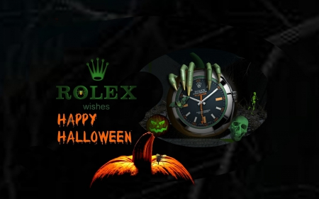 Rolex watch for Halloween - photography, time, halloween, HD, watches, technology
