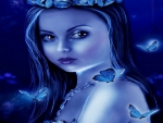 ~Blue Butterflies Girl~