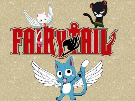 Fairy Tail - carla, pantherlily, panter, tail, lily, charle, happy, fairy