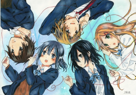 Grimm- Reyd -Ethan -Victor- Corvin in that order | オタク ...  |Anime Group Of Friends Boys And Girls